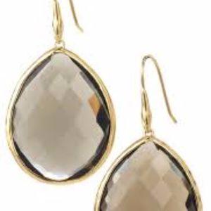 Serenity Stone Drops Earrings - Smoky